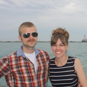 Home Bistro restaurant owners Victor Morenz and Emily Gilbert near Lake Michigan in Chicago