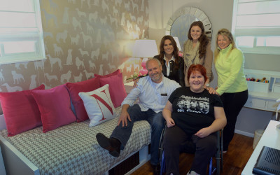 Special Needs Teen Thrilled with Bedroom Makeover