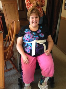 Nicole, 16, of Waterford, was directly helped by Suite Dreams
