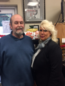 John McEntee, Consultant/Cashier and Judy Ferguson, Store Manager