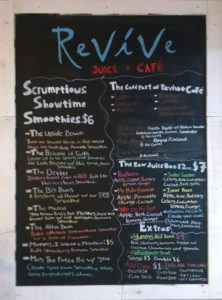 Revive Juice Cafe Menu