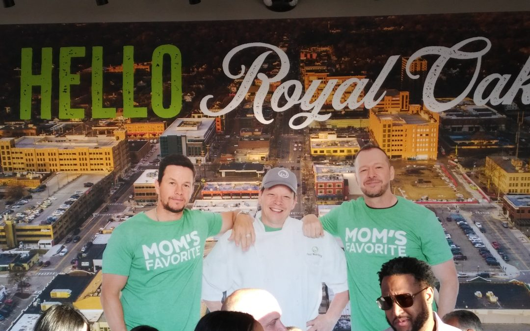 Celebrity Founders Visit New Royal Oak Wahlburgers