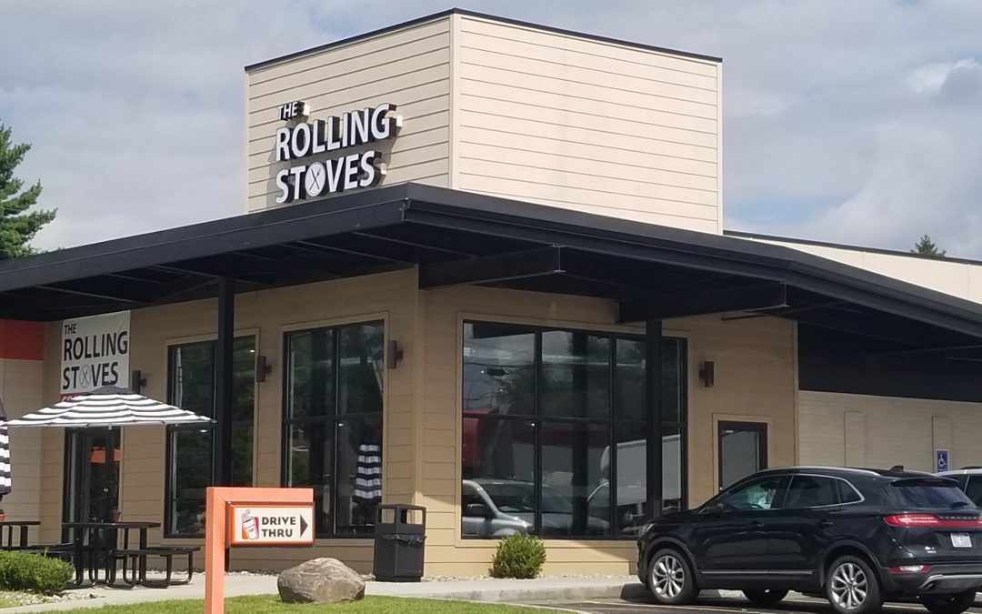 The Rolling Stoves Traveling Burger Food Truck Parks in Farmington